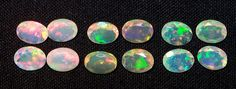 Assorted Insane Rainbow Fire 6*8 MM Oval Faceted Ethiopian Welo Opal(12pc)Parcel #ethiopianopalcut