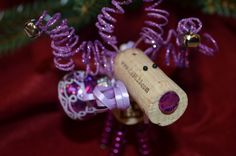 Wine Cork Reindeer Ornament_purple by TheCorkForest on Etsy Wine Cork Ornaments, Reindeer Ornaments, Wine Cork Crafts, All Things Christmas, Christmas Ideas, Christmas Crafts, Christmas Ornaments, Renna, Corks