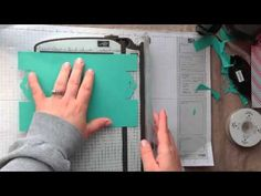 ▶ Stampin' Up! Tag Topper Punch Card Closure - YouTube