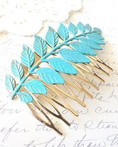 Woodland Leaf Hair - Bridal Hair Comb