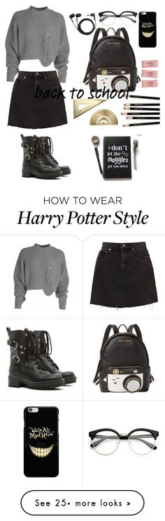 """""""school sucks!"""" by carmelo-burke1 on Polyvore featuring RED Valentino, Betsey Johnson and Sennheiser"""