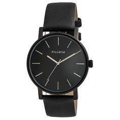 Stort sort ur til kvinder - Spar Pilgrim, Daniel Wellington, Smart Watch, Watches, Ring, Black, Nice Things, Amazon, Inspiration