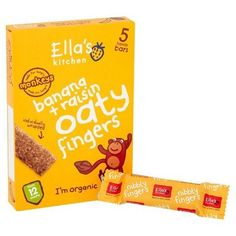 Ella's Kitchen - Nibbly Fingers - Banana & Raisins - 5x25g