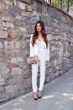 Perfect White Pant Suit