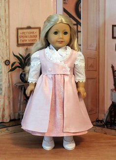 RESERVED Regency Dress, Pinafore, and Fichu