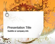 Swirl PowerPoint Template is a free background for PowerPoint presentations that you can download to make impressive art PowerPoint PPTs