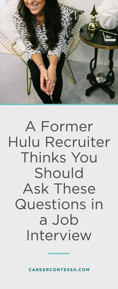 "You know they're going to say, ""Do you have any questions for me?"" But what questions should you ask at the end of your job interview? A former Hulu recruiter shares the 5 unique questions you should ask in a job interview. 