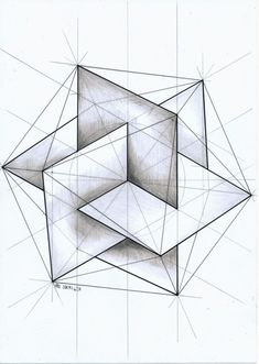 "Drawing Techniques Insertado - ""ㅤ"" Sacred Geometry Symbols, Geometric Drawing, Geometric Artwork, Sacred Architecture, Geometry Architecture, Architecture Design, Math Art, 3d Drawings, Escher Drawings"