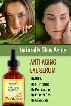 Anti-Aging Eye Serum / Many eye care products are made with chemicals that cannot improve your skin. Chemicals may tighten, firm and smooth but how do they do this to your skin. This serum is made with the best nutritive ingredients in their purest and most potent form available to provide real nutrients which nourish and protect your skin.
