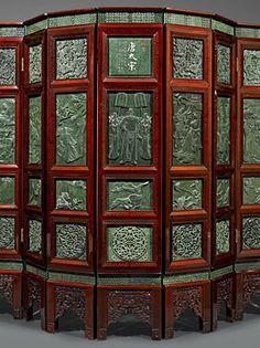 Chinese Jade Floor Screen