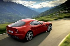 View Alfa Romeo's Reborn, Coupe: Here's What We Know Photos from Car and Driver. Find high-resolution car images in our photo-gallery archive. Car Images, Car Photos, Car Pictures, Spider Pictures, Alfa Romeo 8c, Alfa Romeo Cars, Alfa 8c, Dodge Viper, Dodge Challenger