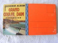 Antique Postcard Booklet - Grand Coulee Dam Washington