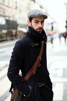 Winter style. Nice coat.