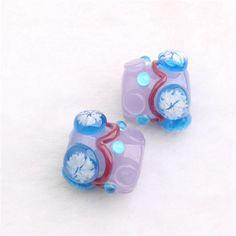 Lampwork Beads Christmas Jewellry Beads Snow by Girljewelrybox