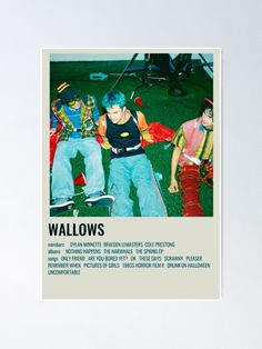 """""""WALLOWS """" Poster by lunervie   Redbubble Event Poster Design, Poster Design Inspiration, Graphic Design Posters, Vintage French Posters, Vintage Concert Posters, Punk Poster, Movie Poster Art, Dorm Posters, Wall Posters"""