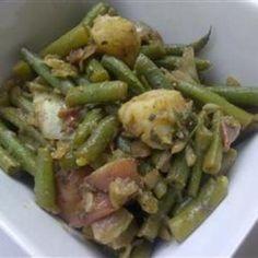 Green Bean and Potato Salad. food-and-drank