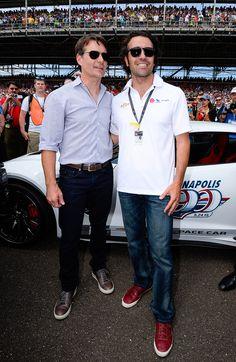 Jeff Gordon and Dario Franchitti at Indianapolis 500 : Jeff Gordon's final season in NASCAR