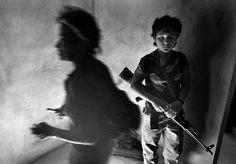 Two Guerilla Women Inside Emergency Clinic, El Salvador, 1989, Larry Towell