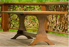 1000 images about amish trestle table on pinterest for Extra long farmhouse table