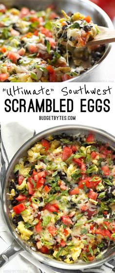 Ultimate Southwest Scrambled Eggs make a fast and filling dinner or brunch, and are a great way to use up leftover ingredients in the kitchen.…