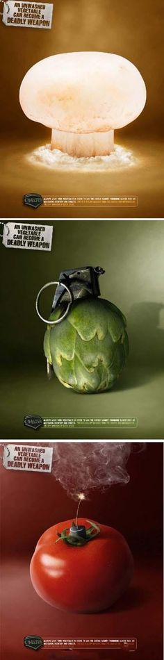 An unwashed vegetable can become a deadly weapon