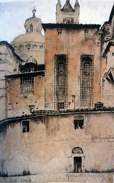 Giannino Marchig, an urban sketcher of the twenties via www.urbansketchers.org