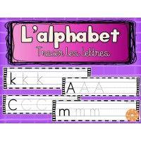 L'alphabet - tracer les lettres