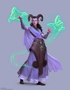 Fantasy Classes - Series 2 (Tiefling Summoner) by Forrest Imel. Fantasy Races, High Fantasy, Fantasy Rpg, Medieval Fantasy, Fantasy Women, Dungeons And Dragons Characters, D D Characters, Fantasy Characters, Female Character Design