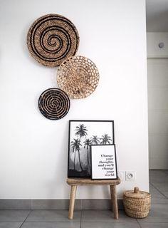 Trendy Home Boho Decor Bohemian Living Ideas Bohemian Living, Bohemian Decor, Bohemian Style, Boho Dekor, Bohemian Furniture, Modern Furniture, Bohemian Bedding, Trendy Home, Baskets On Wall