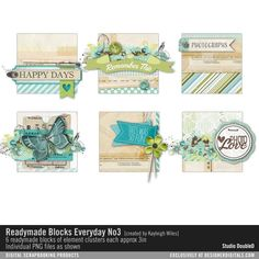 Readymade Blocks: Everyday No. 03- Studio Double-D Elements- EL277249- DesignerDigitals