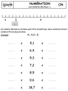Nombres décimaux Decimal, Cycle 3, Math 5, Montessori Activities, Physics, Teacher, Math Equations, Learning, Math Workshop
