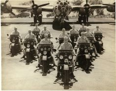 Harley Davidson produced large numbers of motorcycles for the US Army in World War II. And yes, if you were naughty then, you got to meet these fellas. #HDNaughtyList