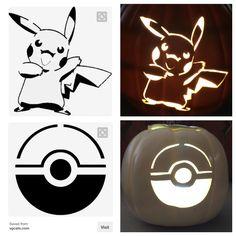 Pokémon Pikachu pumpkin pattern