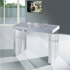 Console extensible collection setis fabricant de meubles for Table console extensible 10 personnes