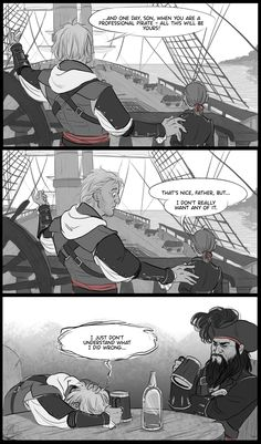 AC4: parenting is hard by graffitihead on deviantART lol poor Edward....I'll take it though :)