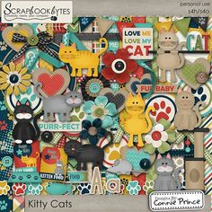 Designs by Connie Prince -Kitty Cats - Kit :: Full Kits :: Kits & Bits :: SCRAPBOOK-BYTES