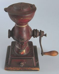 lovely old Coffee Grinder Coffee Tin, I Love Coffee, Vintage Coffee, Coffee Drinks, Coffee Beans, Coffee Shop, Antique Coffee Grinder, Coffee Grinders, Dog Recipes