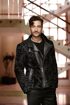 Men fur coats Leather jackets and crocodile jackets