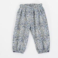 Norlie babybukser - blå/grøn mønstret - ansos.dk - Økologisk børnetøj og babytøj samt økologisk tilbehør. www.ansos.dk