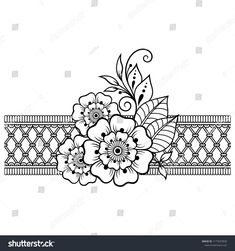 Indian style 842876886491037387 - Mehndi flower pattern and border for Henna drawing and tattoo. Decoration in ethnic oriental, Indian style. Source by katikaflowers Henna Tattoos, Henna Tattoo Muster, Henna Tattoo Designs, Mehandi Designs, Paisley Tattoos, Tattoo Ideas, Paisley Doodle, Henna Doodle, Henna Mandala