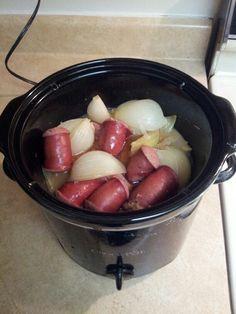 Kielbasa and onions