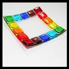 Rainbow Glass Dish