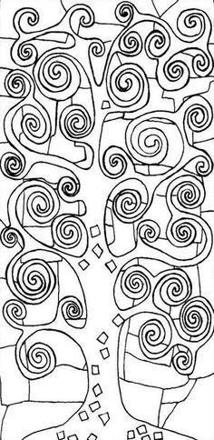 Adult Coloring Page Gustav Klimt Tree Of Life 2