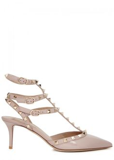 VALENTINO ROCKSTUD 65 BLUSH PATENT LEATHER PUMPS. #valentino #shoes #