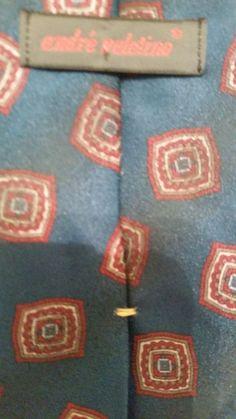 NEW Andre Valetino 100% Silk Geometric Multi Color Classic Mens Neck Tie #AndreValetino #NeckTie
