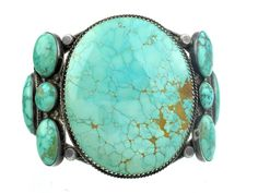 Antique Collection, Circa 1940s, Silver with Carico Turquoise Cuff - $4,565.00