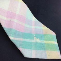 Polo Ralph Lauren Mens Neck Tie Necktie Pastel Madras Plaid Spring Easter Colors #RalphLauren #NeckTie
