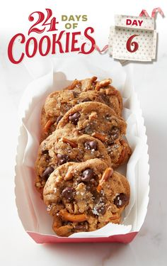 If you love chocolate chip cookies and want to add a bit of flair for the holidays, this recipe is a must-try. This incredible cookie from our Test Kitchens combines butterscotch pudding, chocolate chips and pretzels for a brilliant new treat you won't soon forget. Topped with coarse sweet salt for added flavor, this sweet-and-salty delight will have you going back for seconds.