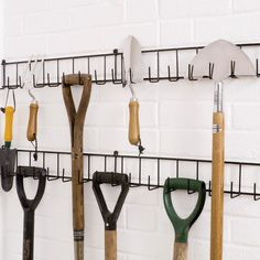 10 Blessed ideas: Garden Tool Sheds Old Doors garden tool rack etsy.Garden Tool Shed Wood Pallets garden tool storage galleries. Garden Tool Organization, Garden Tool Storage, Garage Organization, Organizing, Organized Garage, Workshop Organization, Diy Garage Storage, Shed Storage, Storage Racks