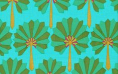 1/2 Yard Kaffe Fassett Fabric - 100% Cotton Quilt Fabric - Palm Fan - Green by lavendarquilts on Etsy